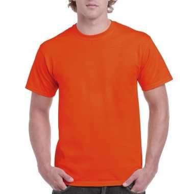 Goedkope gekleurde shirts oranje volwassenen