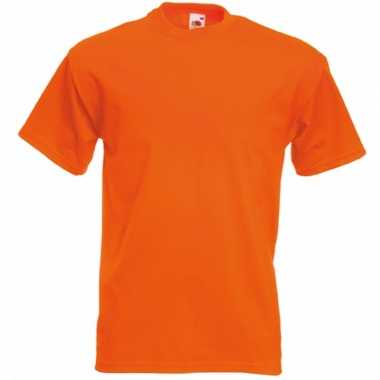 Heren fruit of the loom t-shirt oranje