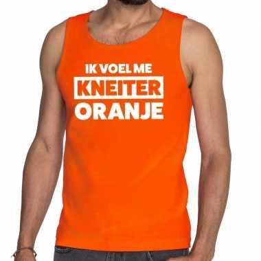 Kneiter oranje koningsdag tanktop / mouwloos shirt oranje heren