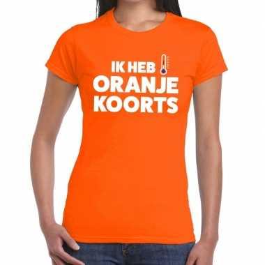 Koningsdag oranje koorts t shirt oranje dames
