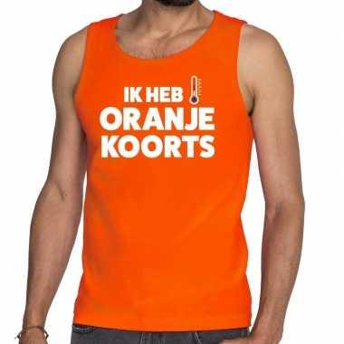 Koningsdag oranje koorts tanktop / mouwloos shirt oranje heren