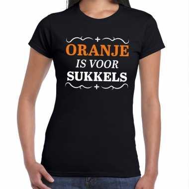 Koningsdag shirts zwart oranje is sukkels dames