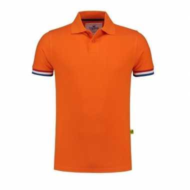 Oranje holland/nederland grote maten poloshirt heren