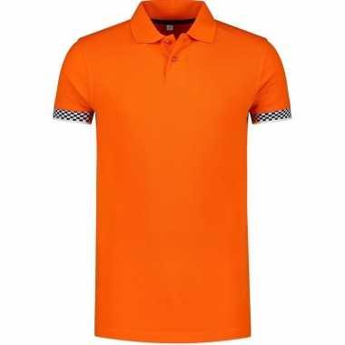 Oranje holland/nederland racing grote maat poloshirt heren