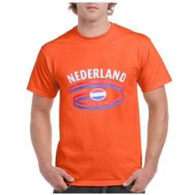 Oranje Nederland vlag t-shirts