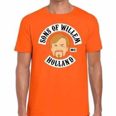 Oranje sons of willem t shirt heren