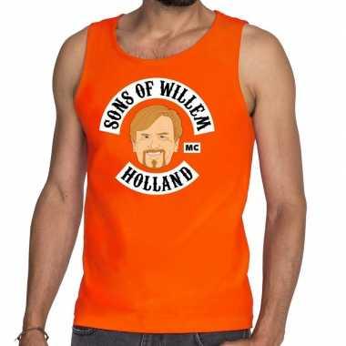 Oranje sons of willem tanktop / mouwloos shirt heren