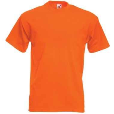 Oranje t shirts korte mouwen heren