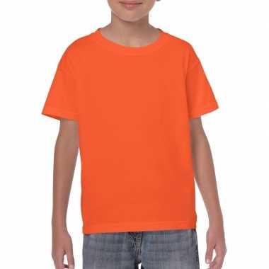 Set stuks oranje kinder t shirts grams % katoen, maat: (m)