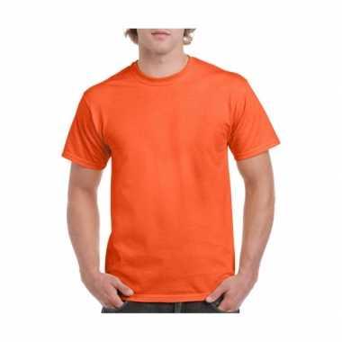 Set stuks oranje shirts voordelig, maat: s