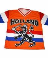 Nederland supporters t shirt zwarte leeuw vlag 10047888