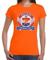 Oranje holland drinking team t shirt dames 10140287