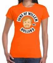 Oranje sons of willem t shirt dames