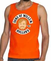 Oranje sons of willem tanktop mouwloos shirt heren